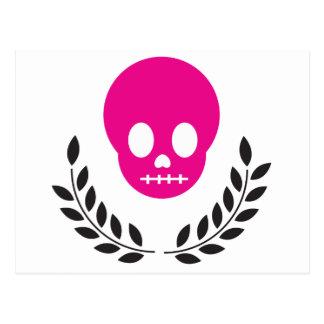Pink Skull Postcard