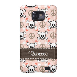Pink Skull Samsung Galaxy S Case Cover Galaxy S2 Cases