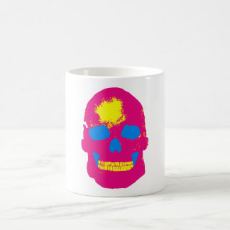 Pink Skull Silk Screen Coffee Mug