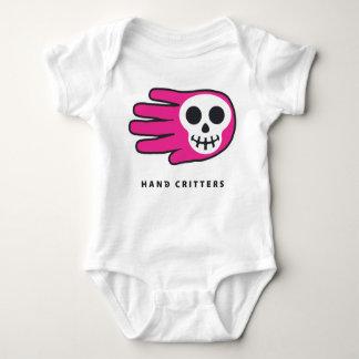 Pink Skull Smile Baby Bodysuit