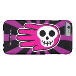Hand shaped Pink Skull Smile Barely There iPhone 6 Case