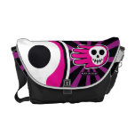 Hand shaped Pink Skull Smile Courier Bag