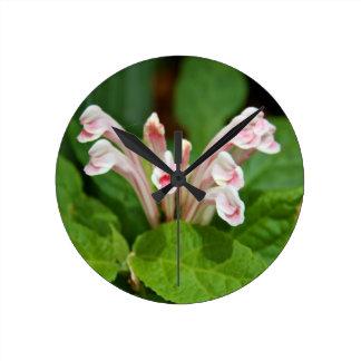 Pink Skullcap Wall Clock