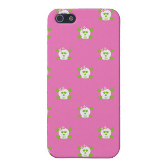 Pink Skulls iPhone 4/4S Case For iPhone SE/5/5s