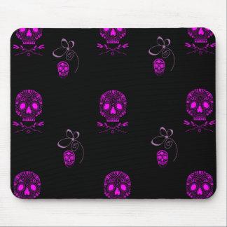 Pink Skulls Mouse Pad