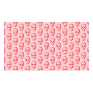 Pink Skulls Pattern. Business Card