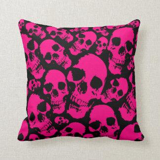 Pink Skulls Pillow