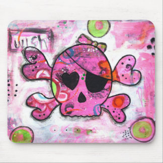 Pink Skully Mouse Pad