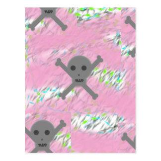 Pink Skullz Postcard