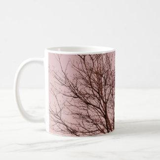 Pink Sky and Tree Photograph Coffee Mug