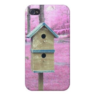 Pink Sky Birdhouse iphone Case