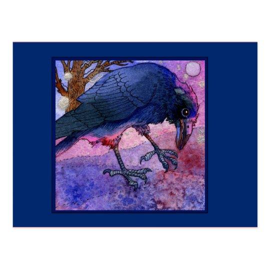 Pink Sky Crow Postcard