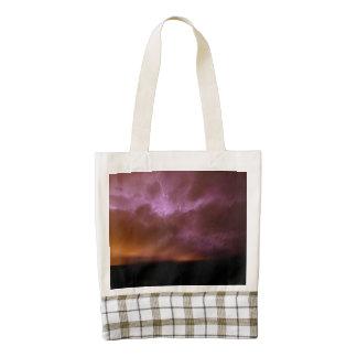Pink Sky Lightning Zazzle HEART Tote Bag