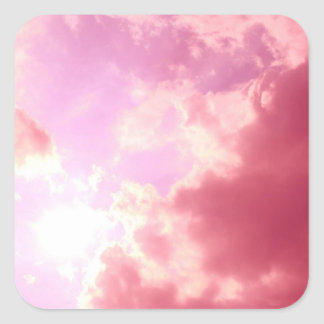 Pink Sky Square Sticker