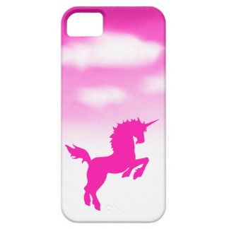 Pink Sky Unicorn with Puffy Clouds iPhone SE/5/5s Case