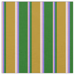 [ Thumbnail: Pink, Slate Blue, Green, Dark Goldenrod & White Fabric ]