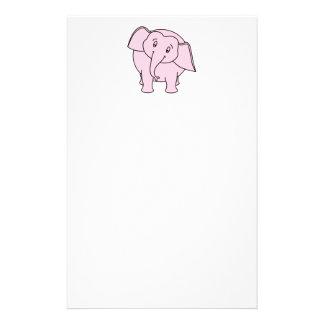 Pink Sleepy Elephant. Cartoon. Stationery