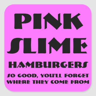 Pink Slime Humburgers Stickers