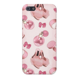 Pink slippers and perfume iPhone SE/5/5s cover