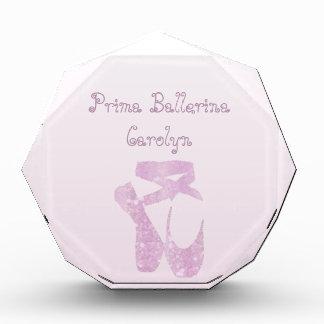 pink slippers acrylic award