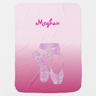 pink slippers baby blanket