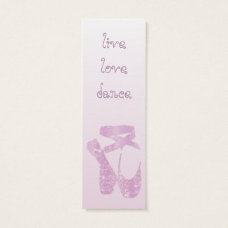 pink slippers mini business card
