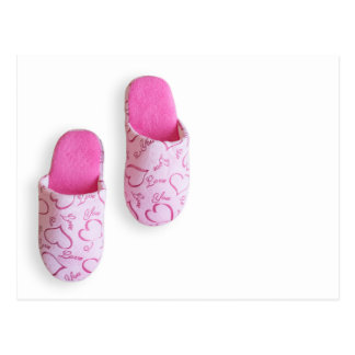 Pink slippers postcard