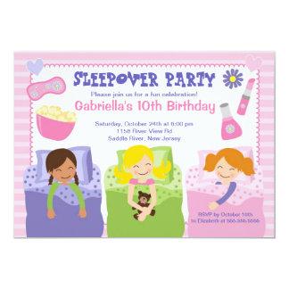 "Pink Slumber Party Fun Birthday Invitation 5"" X 7"" Invitation Card"