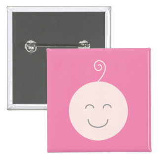 Pink Smile Baby Button