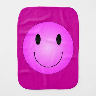 Pink Smiley Baby Burp Cloths