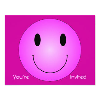 Pink Smiley Card