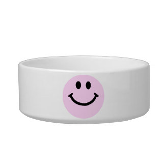Pink smiley face bowl