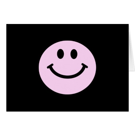 Pink smiley face cards