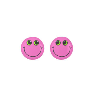 Pink Smiley Face Earrings