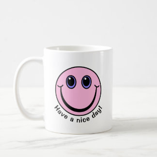 Pink Smiley Face Have a nice day Coffee Mug