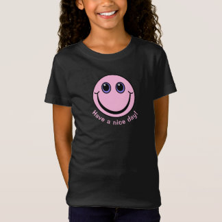 Pink Smiley Face Have a nice day T-Shirt