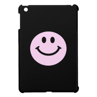 Pink smiley face iPad mini covers