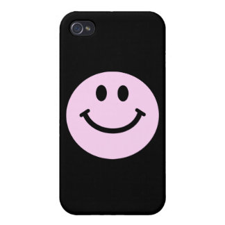 Pink smiley face iPhone 4 cases
