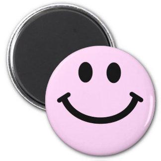 Pink smiley face magnet