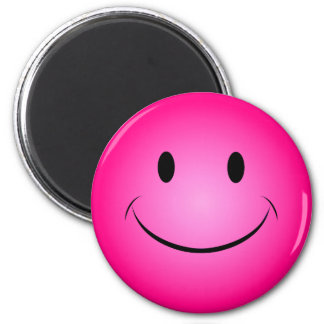 Pink Smiley Face Magnet