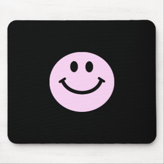 Pink smiley face mouse pads
