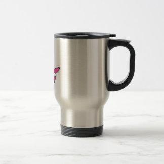 Pink smiling sloth travel mug
