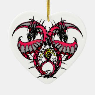 Pink Smoke Dragonheart Ceramic Ornament