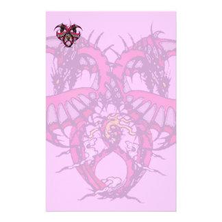 Pink Smoke Dragonheart Stationery