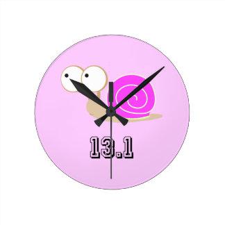 Pink Snail 13.1 (half marathon) Round Clock