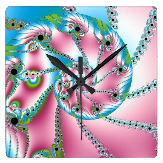 Pink Snail Clock