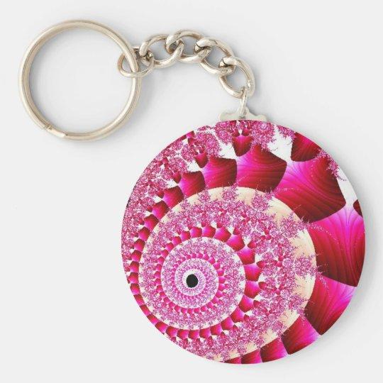 pink snail keychain