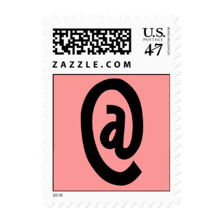 Pink Snail Mail Postage w/ email at Black @ Sign