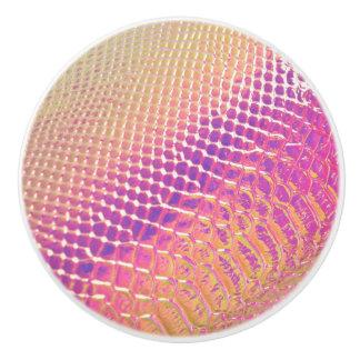 pink Snak Skin Ceramic Knob