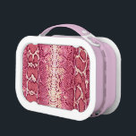 "Pink Snake Skin Lunchbox #1<br><div class=""desc"">This unique snake skin design lunchbox is a classic</div>"